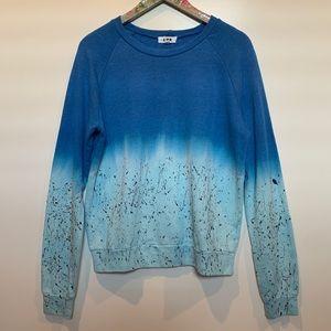 LNA Paint Splatter Ombré Sweatshirt Size XS
